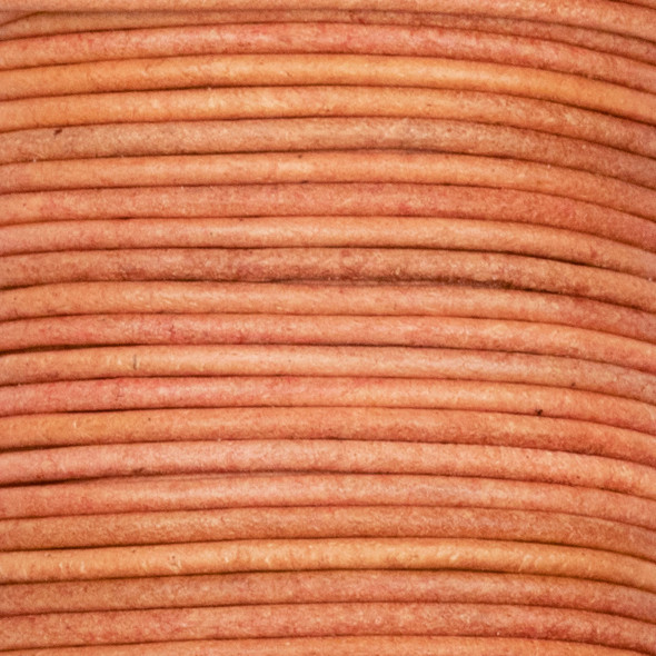 1.5mm Antique Wood Brown Leather Cord - #475, 25 meter spool