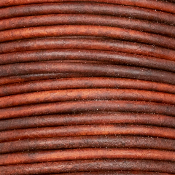 2mm Antique Cherry Wood Red Leather Cord - #413, 25 meter spool