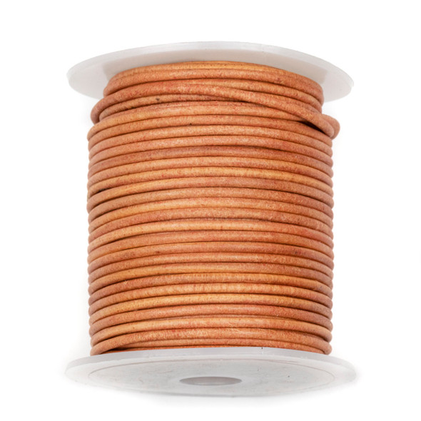 2mm Antique Wood Brown Leather Cord - #475, 25 meter spool