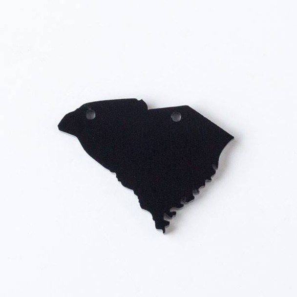 South Carolina Acrylic 29x40mm Black State Pendant - 1 per bag
