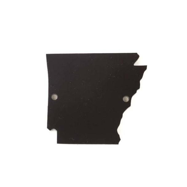 Arkansas Acrylic 35x39mm Black State Link - 1 per bag