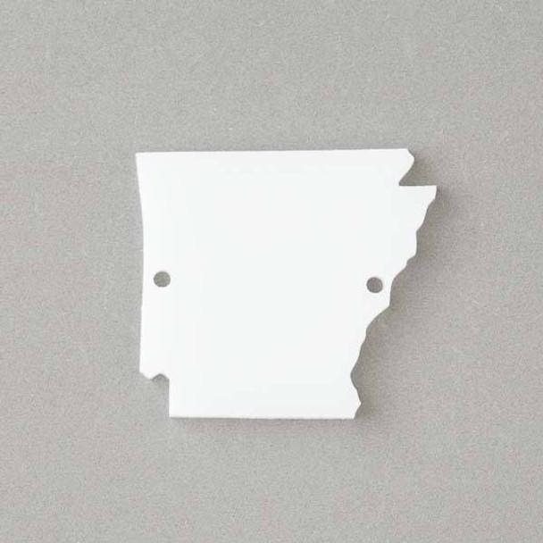 Arkansas Acrylic 35x39mm White State Link - 1 per bag