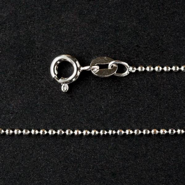 "Sterling Silver 1mm Ball Chain Necklace - 16"" AG002-120-C"