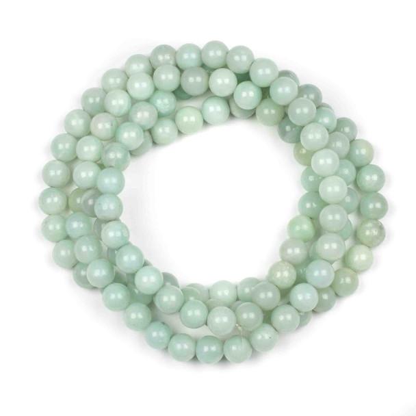 Blue Amazonite 8mm Mala Round Beads - 36 inch strand