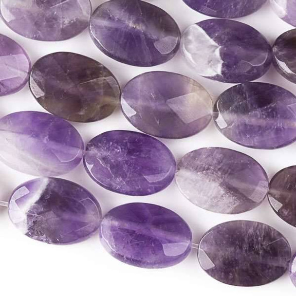 Amethyst Faceted 10x14mm Oval Beads - approx. 8 inch strand, Set B