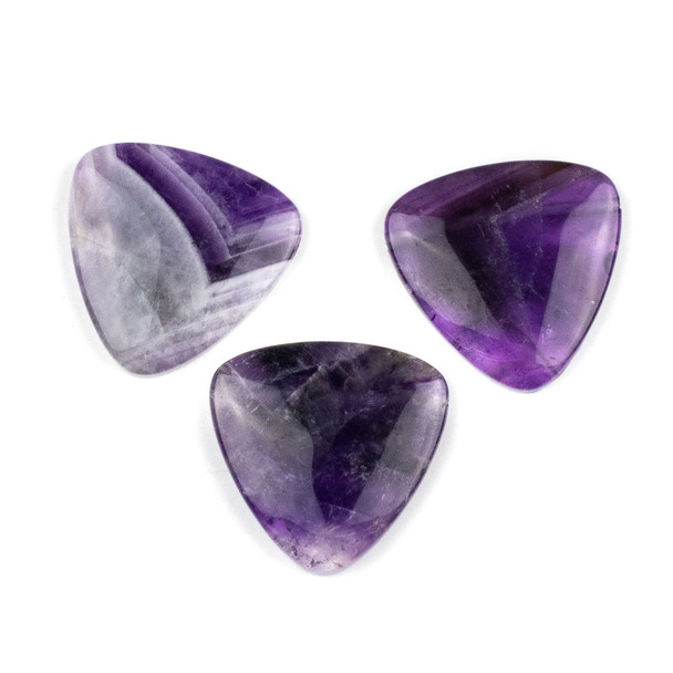 Amethyst 35mm Top Drilled Inverted Triangle Pendant - 1 per bag