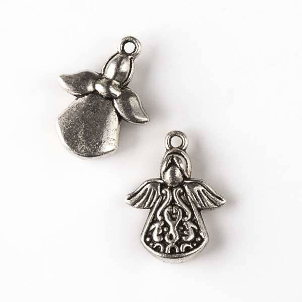 Silver Pewter 16x21mm Angel Charm - 10 per bag