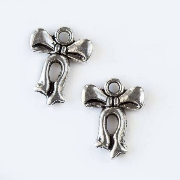Silver Pewter 12x16mm Small Bow Charm - 10 per bag