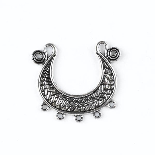 Silver Pewter 50x57mm Focal Piece Link with Dangles- style #39252 - 1 per bag