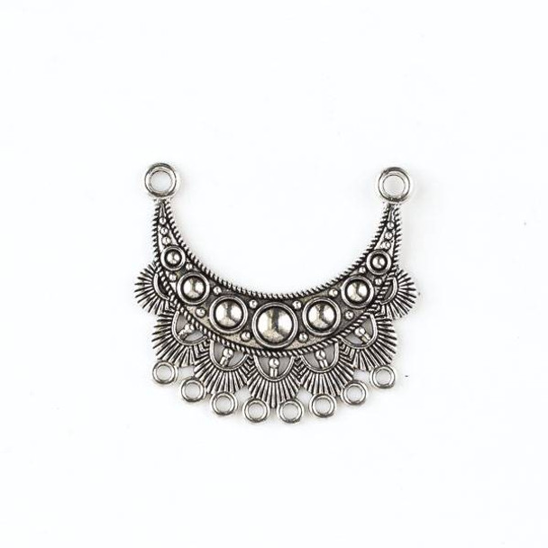 Silver Pewter 42x45mm Focal Link with Dangles - style #39556 - 2 per bag
