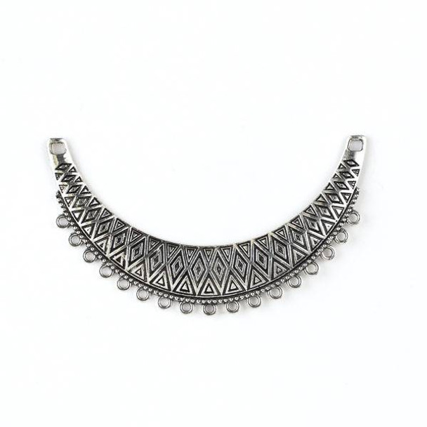 Silver Pewter 20x88mm Bib Centerpiece with Dangles - style #40234 - 1 per bag