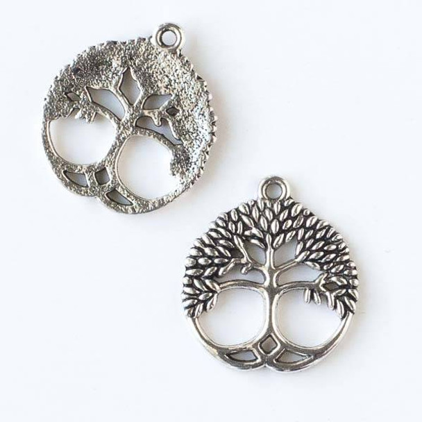 Silver Pewter 23x26mm Tree of Life Charm - 10 per bag