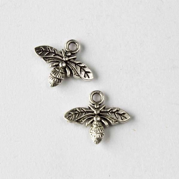 Silver Pewter 13x16mm Flying Bug Charm - 10 per bag