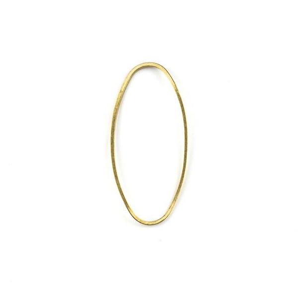 Raw Brass 17x37mm Twisted Oval Link Components - 6 per bag - CTBXJ-007