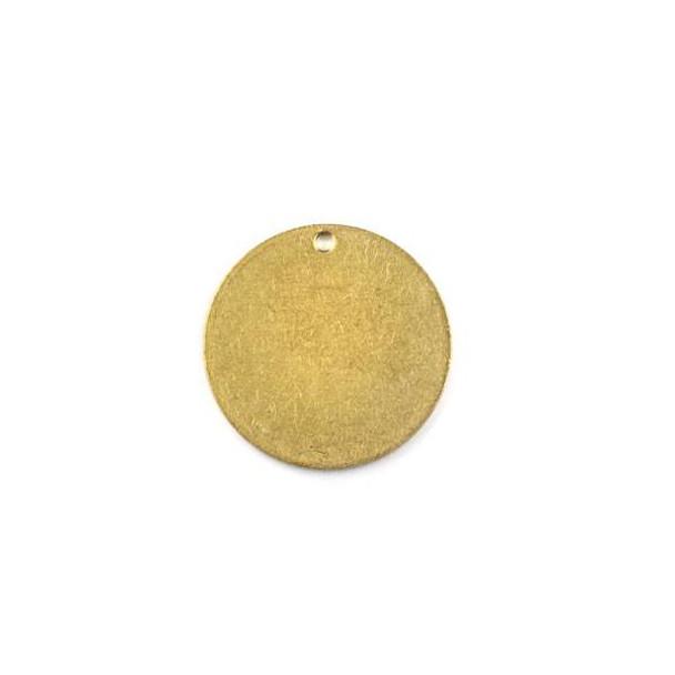 Raw Brass 20mm Coin Drop Components - 6 per bag - CTBXJ-016