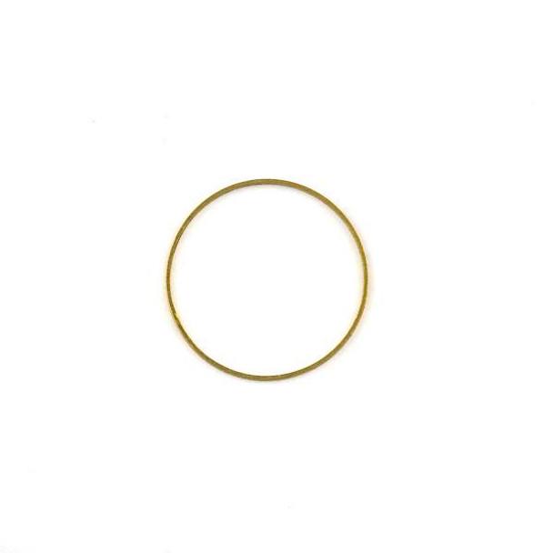 Raw Brass 24mm Hoop Link Components - 6 per bag - CTBXJ-024