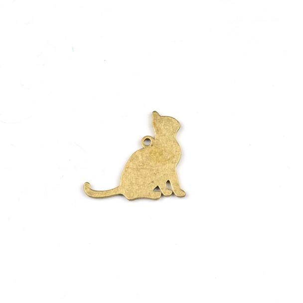 Raw Brass 14x16mm Cat Drop Components - 6 per bag - CTBXJ-035