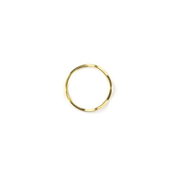 Raw Brass 18mm Wavy Hoop Link Components - 6 per bag - CTBYH-001b