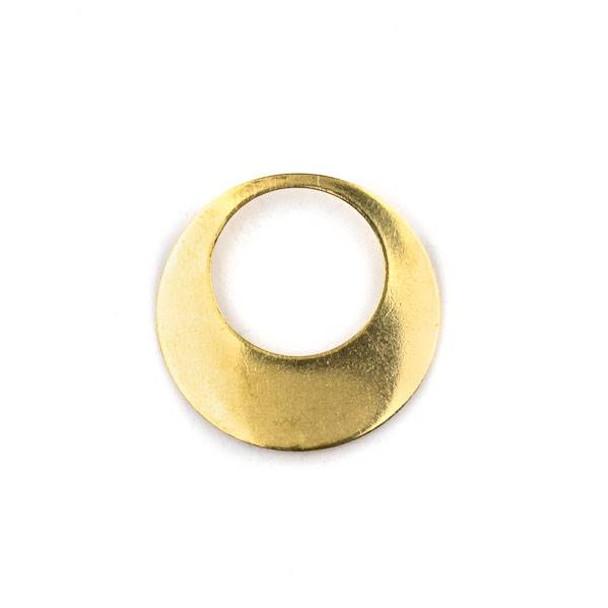 Raw Brass 23mm Agogo Components - 6 per bag - CTBYH-010b