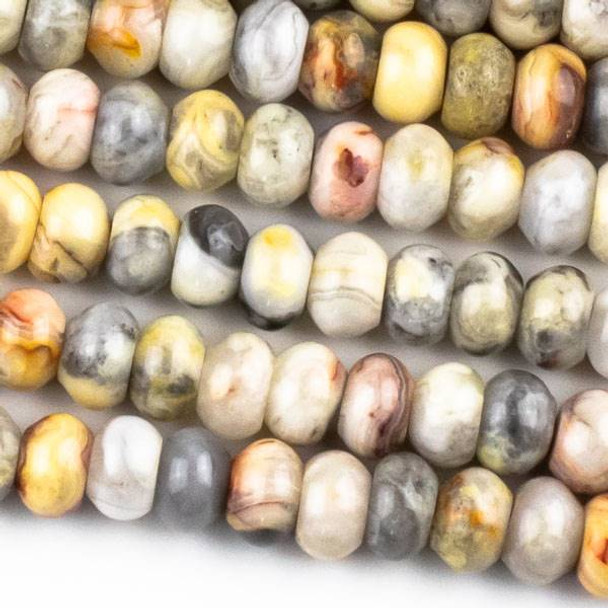Crazy Lace Agate 5x8mm Rondelle Beads - approx. 8 inch strand, Set A