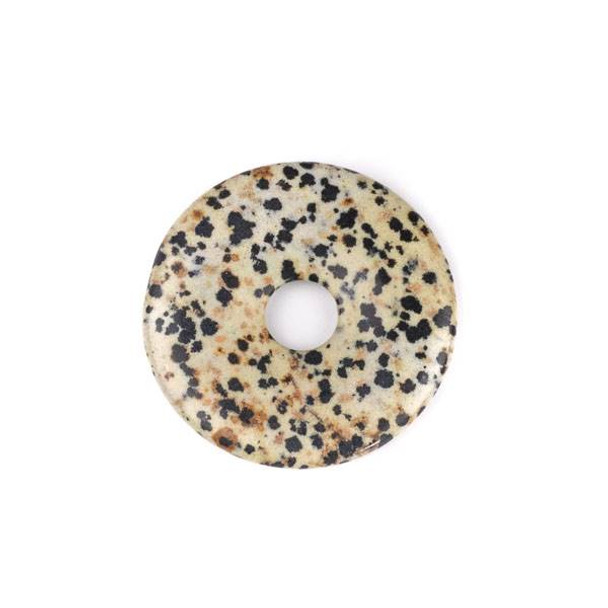 Dalmatian Jasper 43mm Donut Pendant - 1 per bag