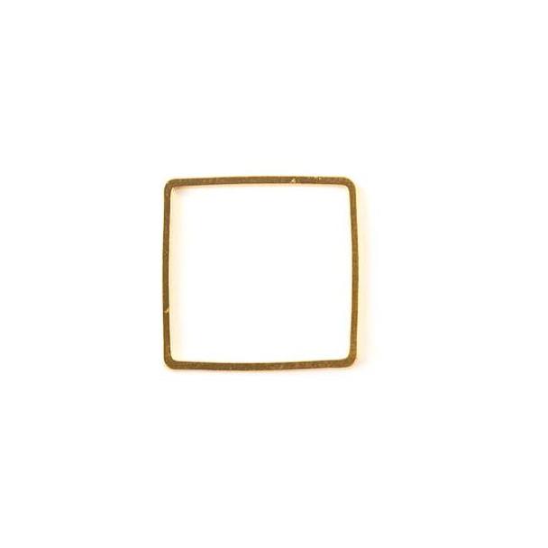 Gold Colored Brass 20mm Square Link - 6 per bag - ES7300g