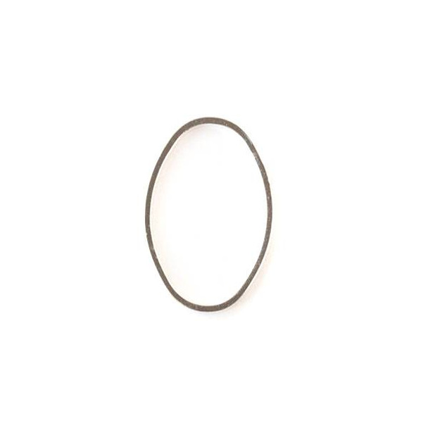 Silver Plated Brass 13x20mm Oval Link - 6 per bag - ES7307s