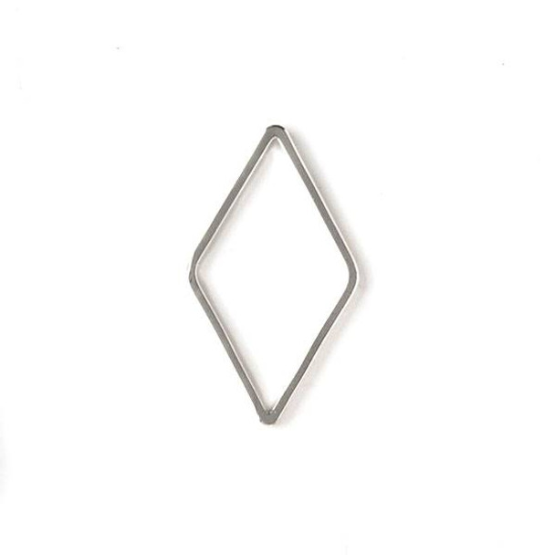 Silver Plated Brass 13x23mm Diamond Link - 6 per bag - ES7354s