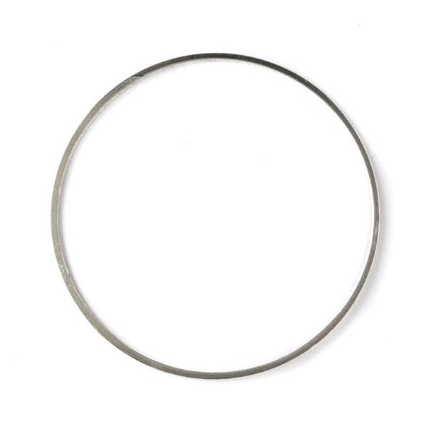 Silver Plated Brass 39mm Hoop Link - 6 per bag - ES7379s