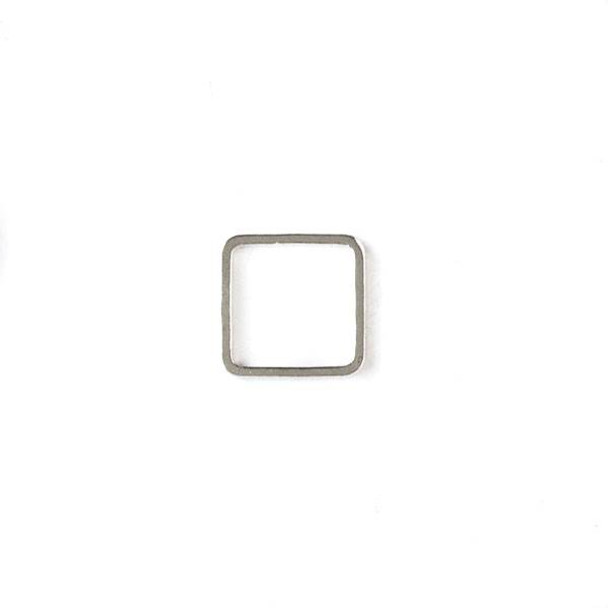 Silver Plated Brass 10mm Square Link - 6 per bag - ES7594s