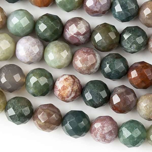 Fancy Jasper 10mm Faceted Round Beads - approx. 8 inch strand, Set B