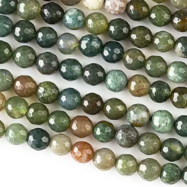Fancy Jasper 6mm Faceted Round Beads - approx. 8 inch strand, Set B