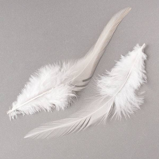 White Feathers, 6 inches, 2 per bag - #1-4