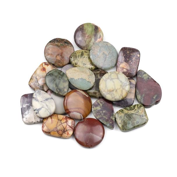 A Bulk Mix of 20 Medium (12-15mmx15-30mm) Gemstone Beads
