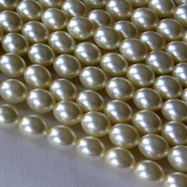 Glass Pearl Light Yellow 7x9mm Rice