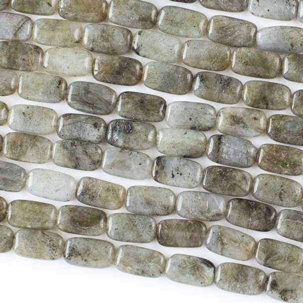 Labradorite 8x14mm Rectangle Beads - 16 inch strand