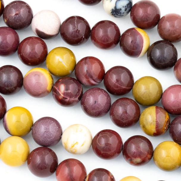 Mookaite 12mm Round Beads - 15 inch strand
