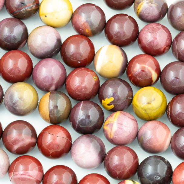 Mookaite 16mm Round Beads - 15 inch strand
