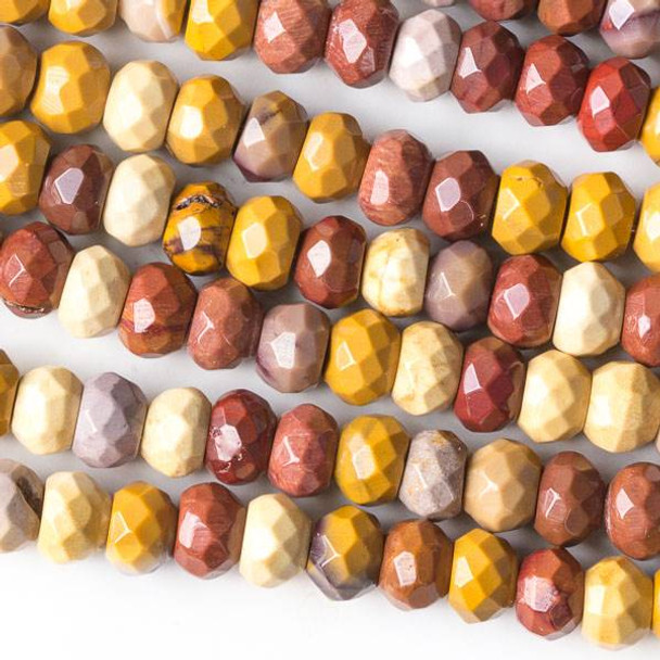 Mookaite 5x8mm Faceted Rondelle Beads - 16 inch strand