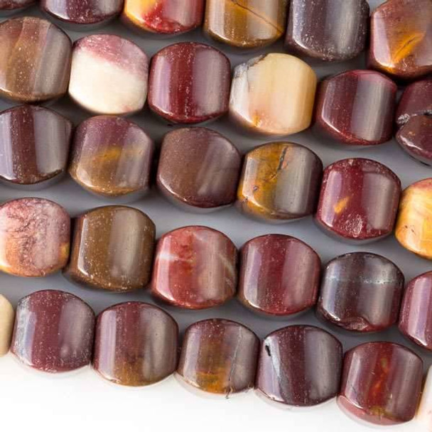 Mookaite 8mm Cushion Beads - approx. 8 inch strand, Set A
