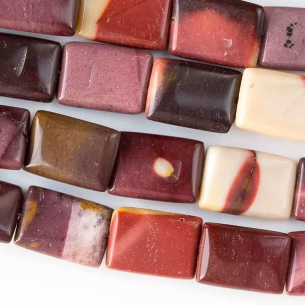 Mookaite 10x14mm Rectangle Beads - approx. 8 inch strand, Set A