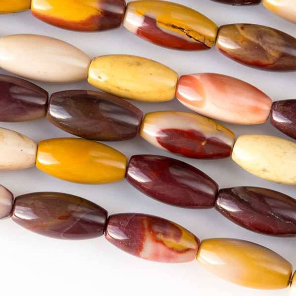 Mookaite 7x14mm Rice Beads - approx. 8 inch strand, Set A