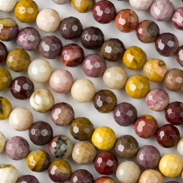 Mookaite 6mm Faceted Rounds - 16 inch strands