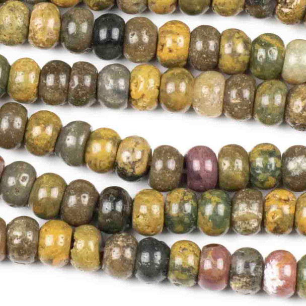 Ocean Jasper 5x8mm Rondelle Beads - approx. 8 inch strand, Set A