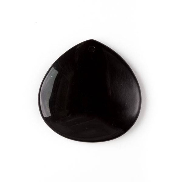 Onyx 40mm Top Front to Back Drilled Almond Pendant with a Flat Back - 1 per bag
