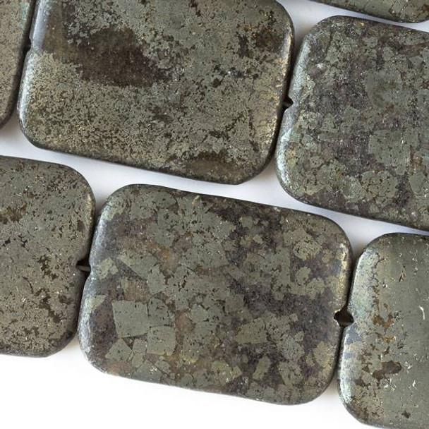 Pyrite 30x40mm Puff Rectangle
