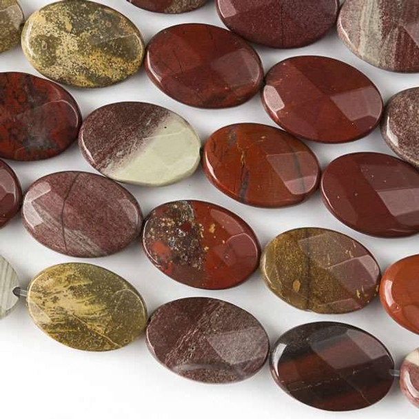 Rainbow Jasper Faceted 10x14mm Oval Beads - approx. 8 inch strand, Set B