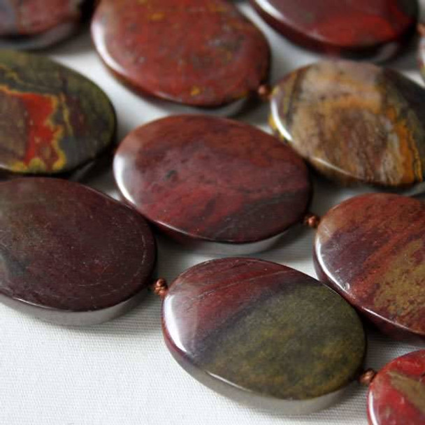 Red Tiger Iron Jasper 18x25mm knotted oval