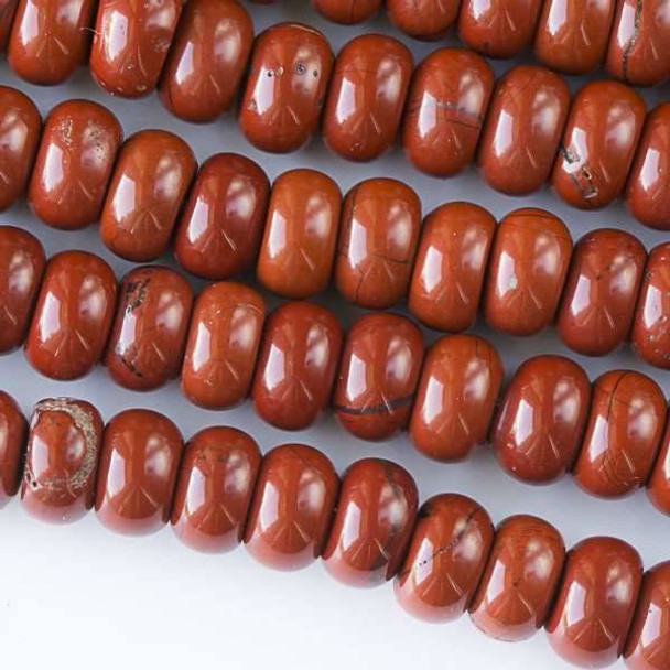 Red Jasper 5x8mm Rondelle Beads - approx. 8 inch strand, Set A