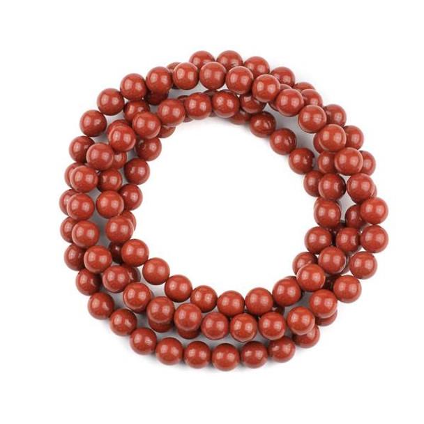 Red Jasper 8mm Mala Round Beads - 36 inch strand